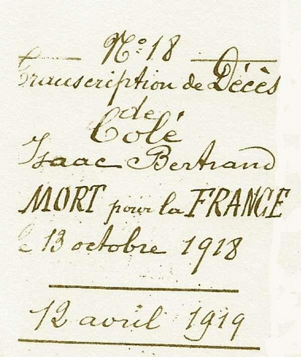 Isaac Bertrand COLE