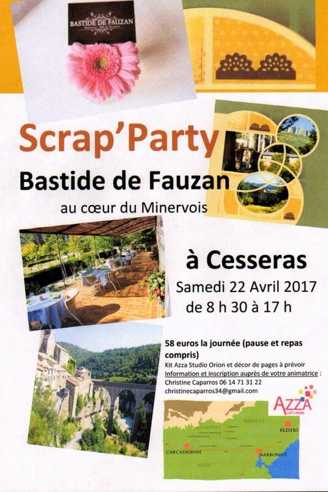 Scrap'Party à Fauzan au coeur du Minervois