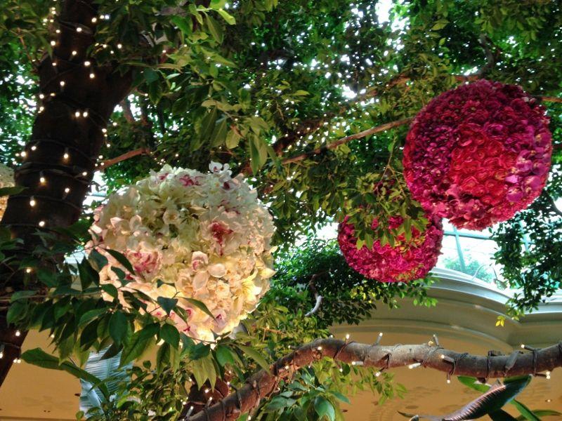 Le jardin de fleurs de l'hôtel Wynn Encore - Las Vegas