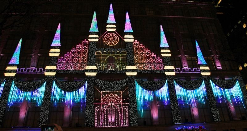 Magasin Saks 5th avenue New York Illuminations nouvel an
