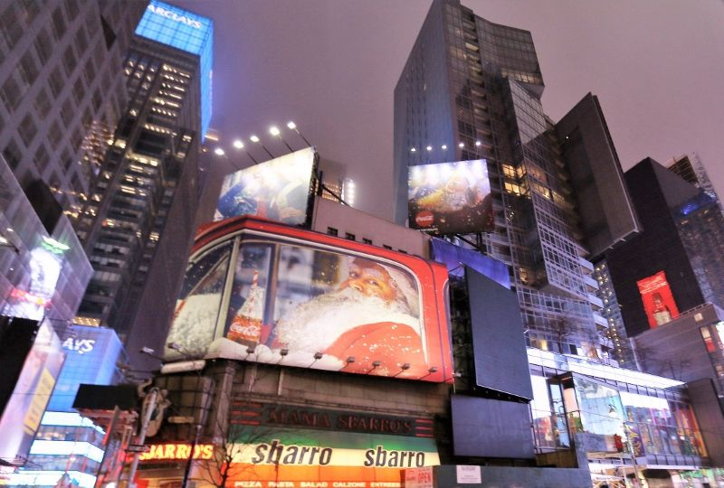 130 New York Times Square by night