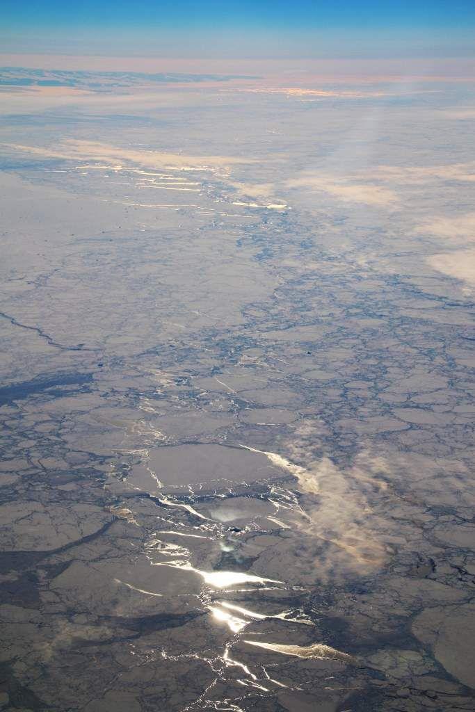 Le Groenland vu d'en haut et aussi la mer de Bering