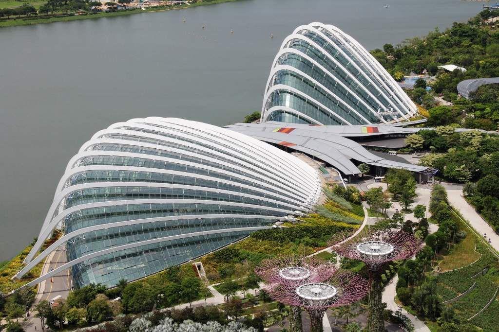 Supertree grove Vues du Marina Bay Sands hôtel Singapour