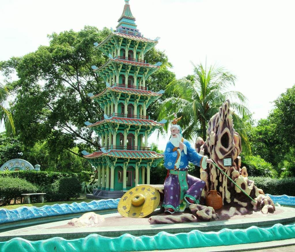 Les pagodes du parc Haw Par Villa - République de Singapour