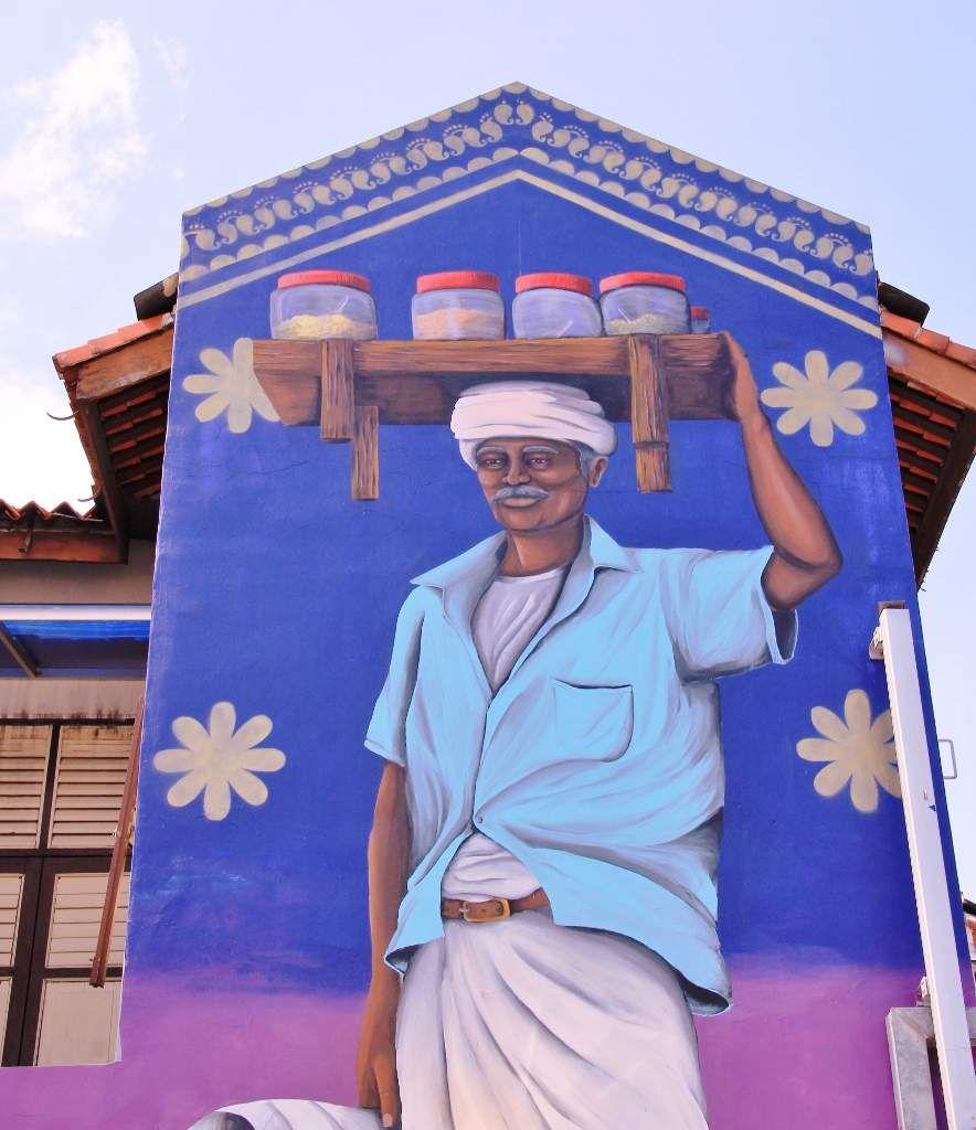 Street art dans le quartier indien de Singapour