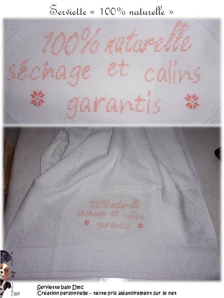 Serviette &quot&#x3B;100% naturelle&quot&#x3B;