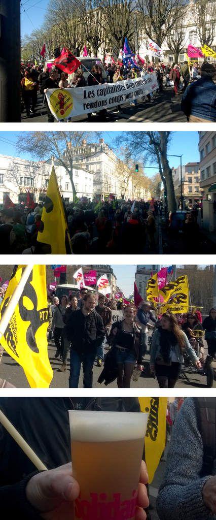 Mobilisation du 9 avril...une belle journée de  printemps !