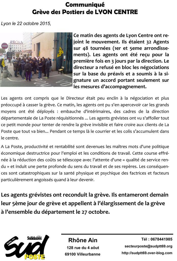 LYON CENTRE...le mur force les agents à reconduire la grève !!!