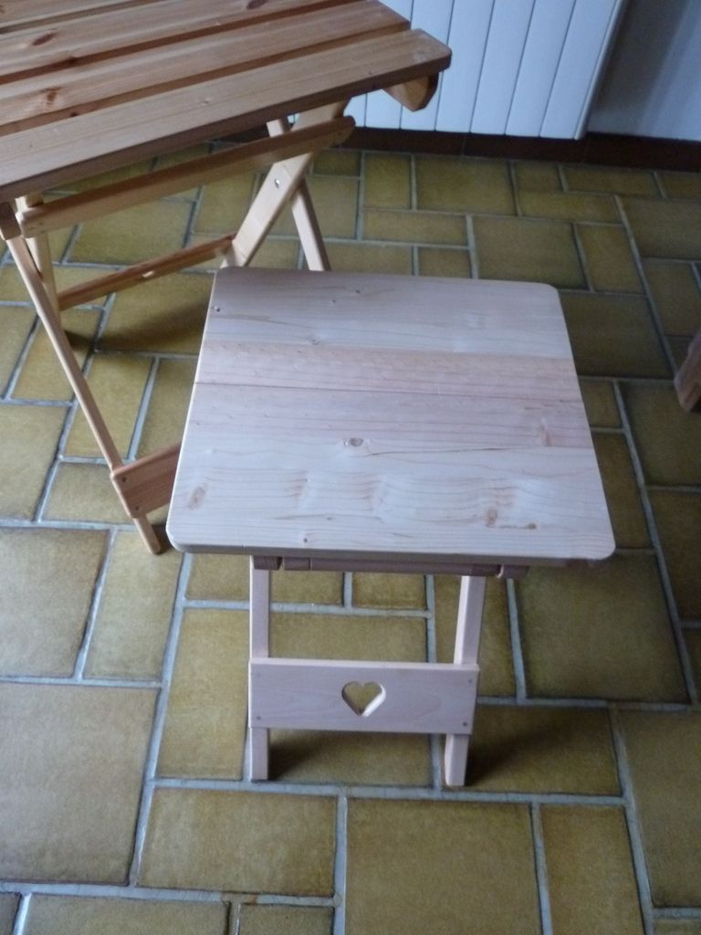 la table et la chaise