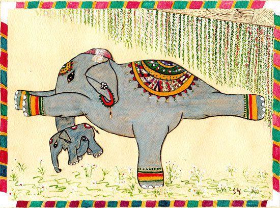 Yoga : l'éléphant