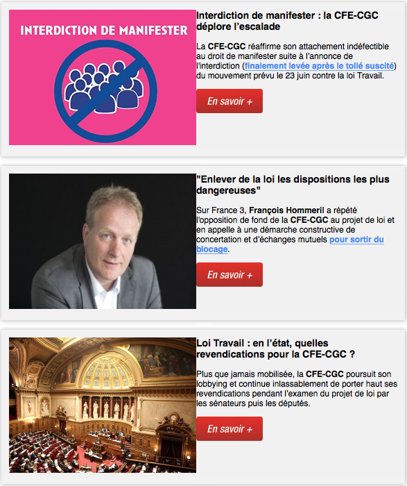La newsletter, Le + Syndical - N° 306