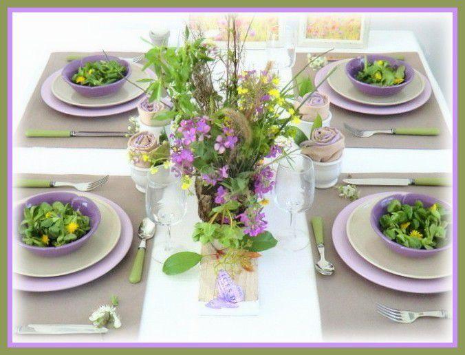 Ma table &quot&#x3B;fleurs des champs &quot&#x3B;