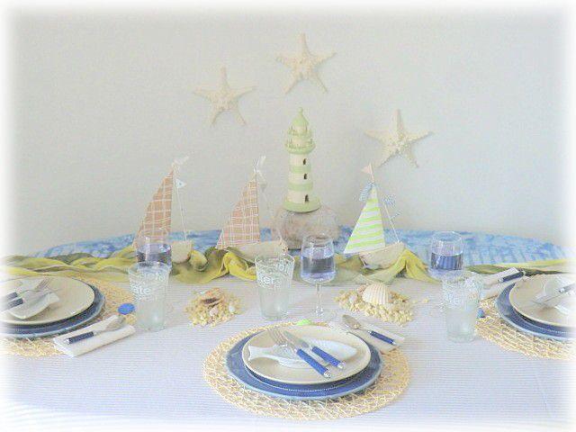 Table déjeuner en bord de mer