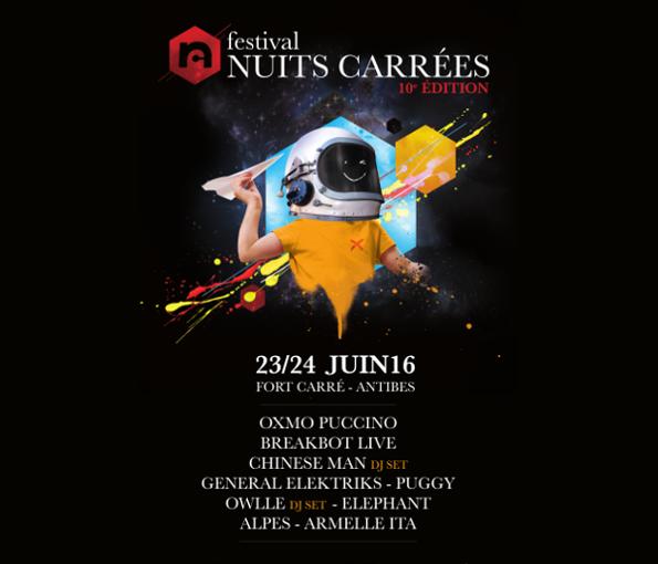Festival Nuits Carrées - 10ème édition : Breakbot, Chinese Man...