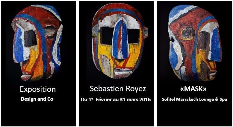 «Bozo Mask» Mali, tryptique, huile & acrylique sur bois 2,07x3 m - 2015