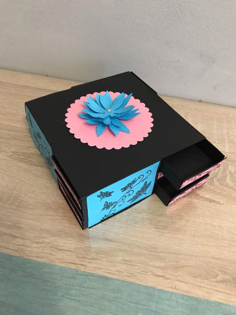 Boîte à bijoux 12 compartiments