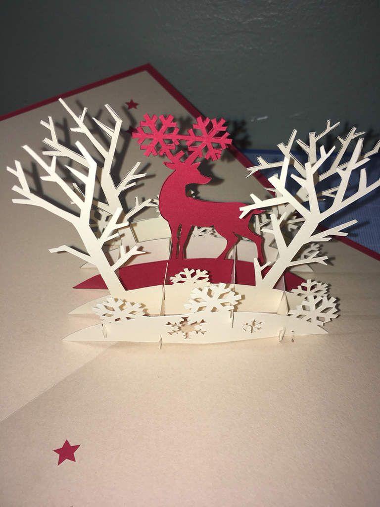 Carte joyeux Noël renne