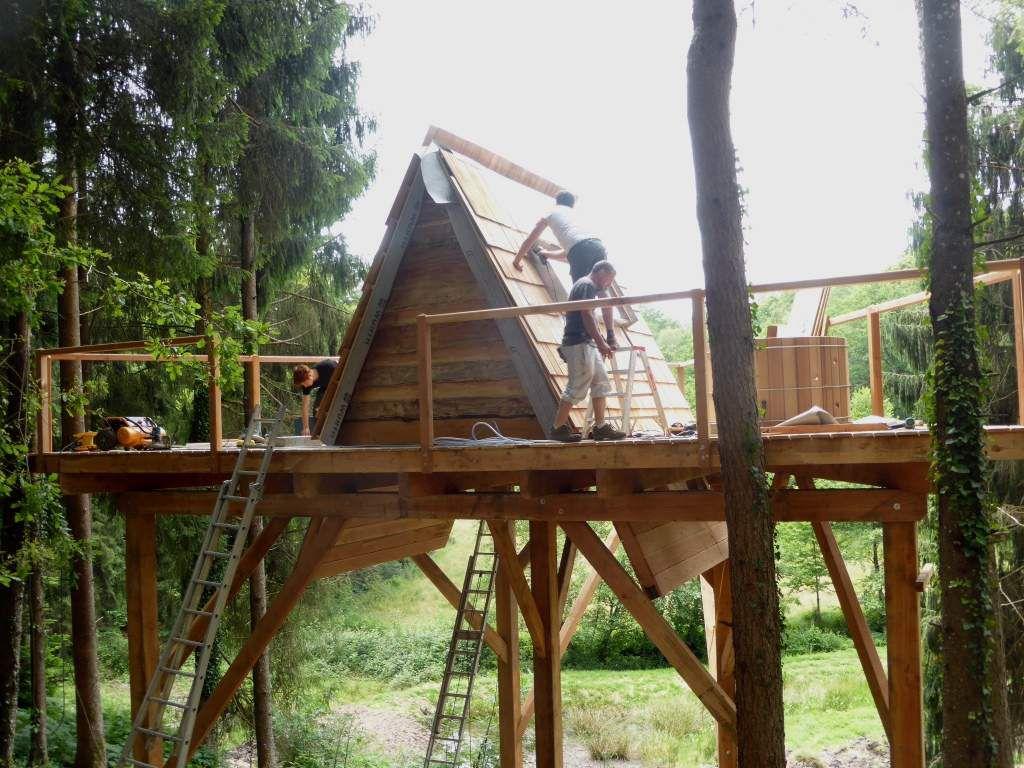 Deux nouvelles cabanes au Moulin