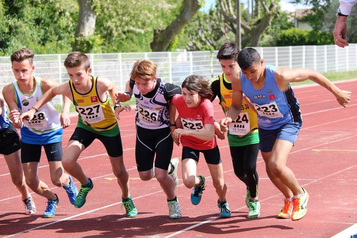 Mathias et Théo au départ du 1000 m