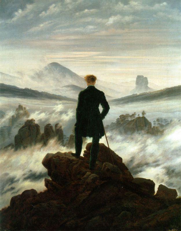 Caspar David Friedrich, Il viandante sul mare di nebbia, 1818