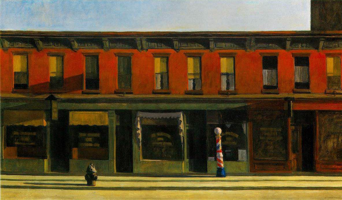 (Early Sunday Morning by Edwuard Hopper)