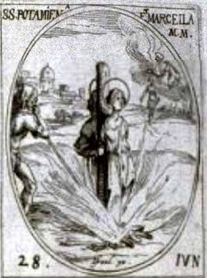Sainte Potamiène, vous et nos Saints martyrs contemporains, obtenez-nous force et lumière pour refuser l'apostasie ambiante et témoigner, à votre exemple, du Christ Prince de la Paix et de Son Évangile de Vie. Amîn.