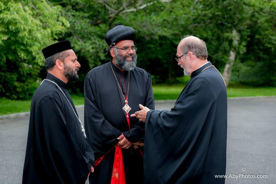 Rencontre fraternelle entre Sa Béatitude le Métropolite Tikhon et Sa Sainteté Baselios Marthoma Paulos II, Catholicose de l'Est
