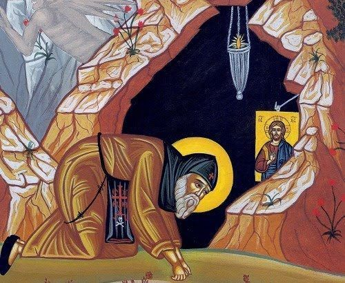 """""""It is not an external enemy we dread. Our foe is shut up within ourselves. An internal warfare is daily waged by us."""" (St. John Cassian)"""
