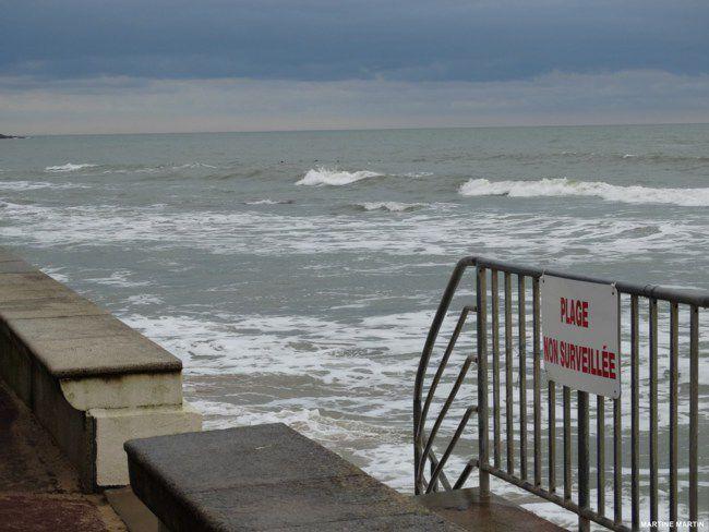 Grandes marées Février 2015 aux Sables