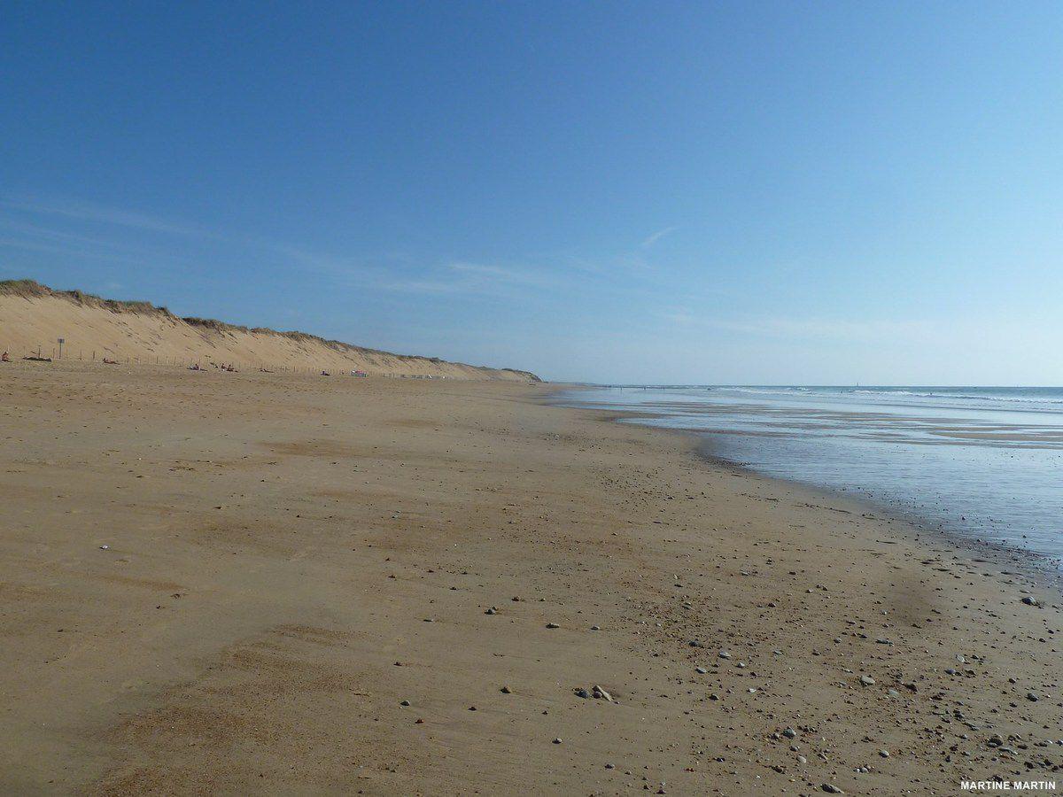 Eté indien sur plage de sauveterre d'olonne sur mer