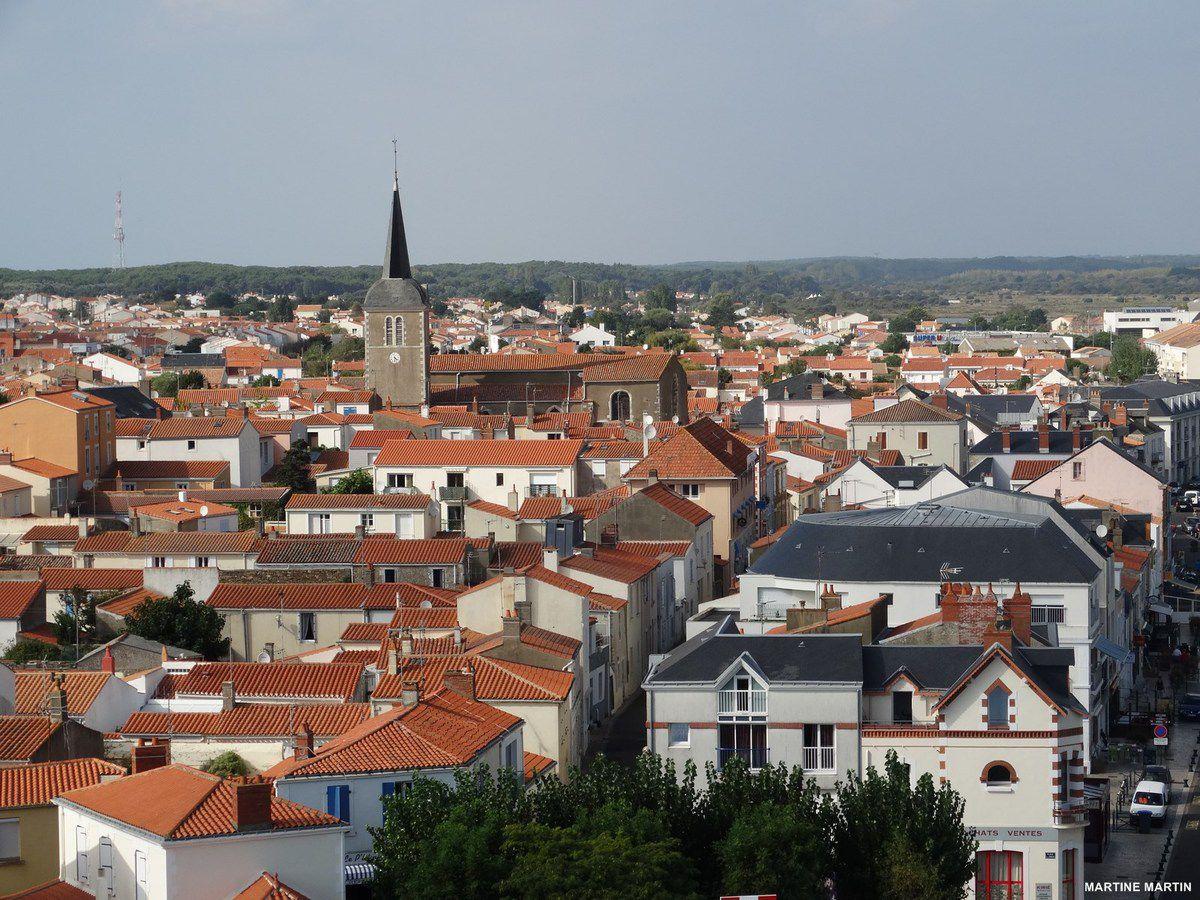 Le pays d'Olonne : Vue depuis la tour d'Arundel