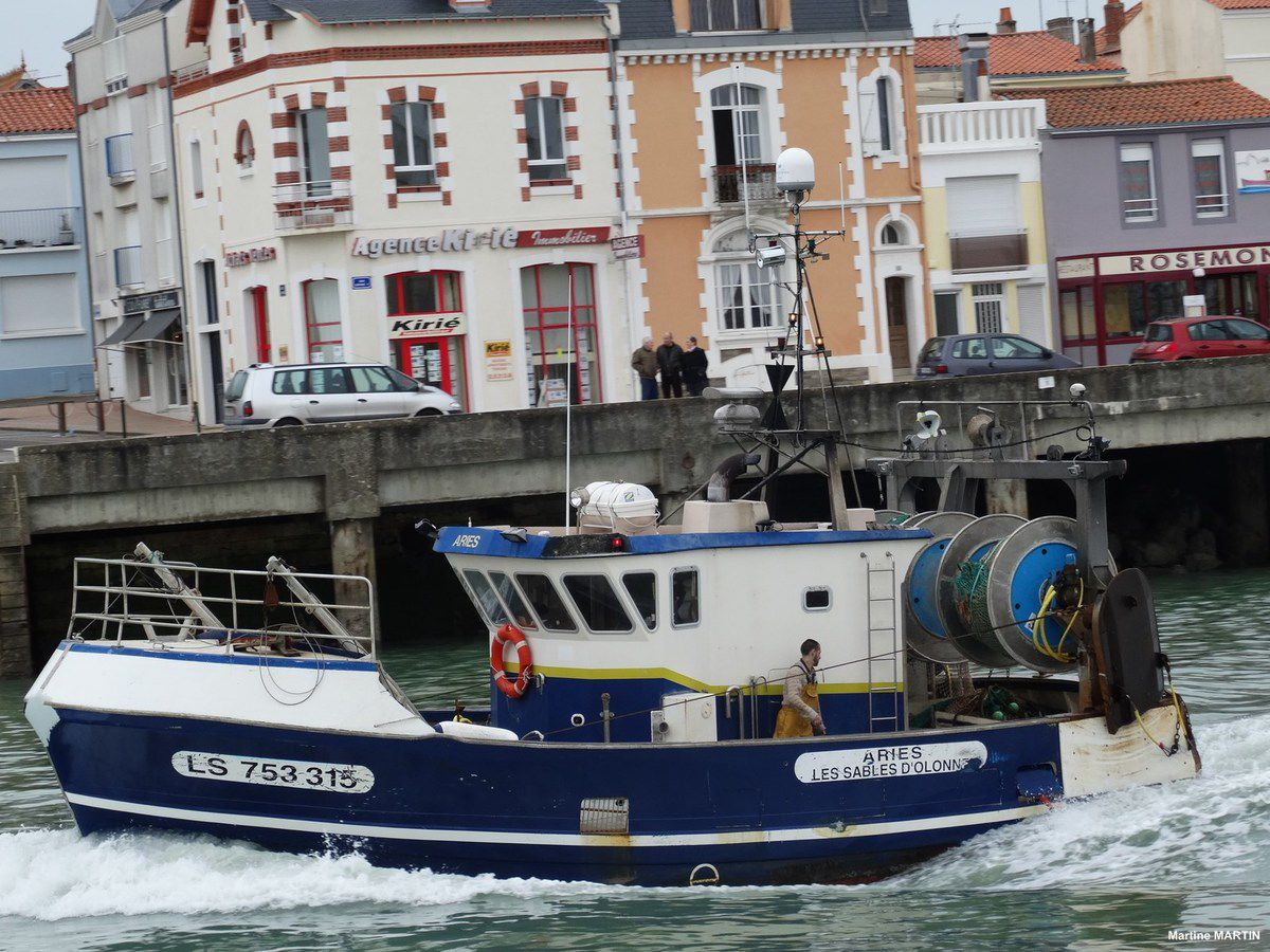 La rentrée au port des chalutiers des Sables d'Olonne... et sortie