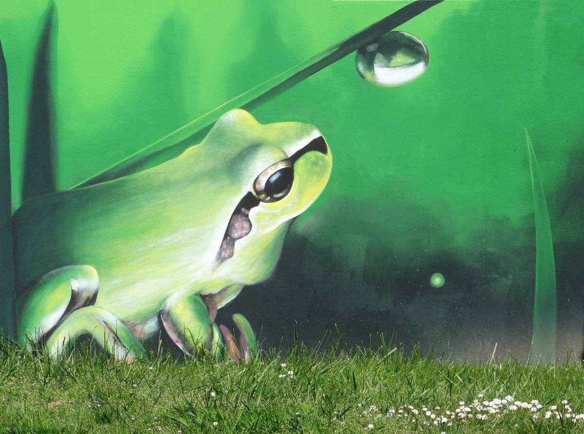 Une grenouille plus vraie que nature au Château d'Olonne