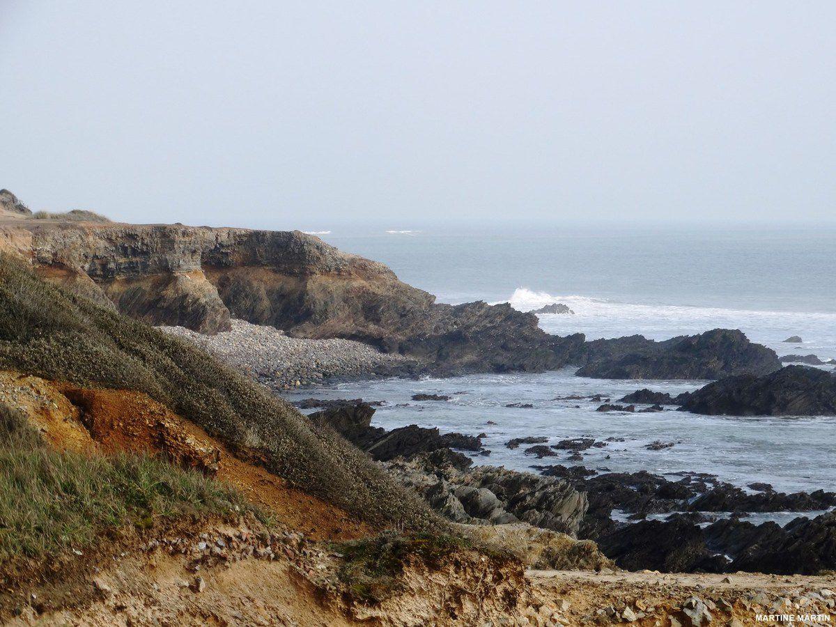 Promenade littorale à Jard sur mer