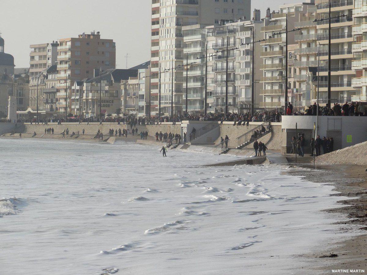 La marée haute du Siècle aux Sables d'olonne
