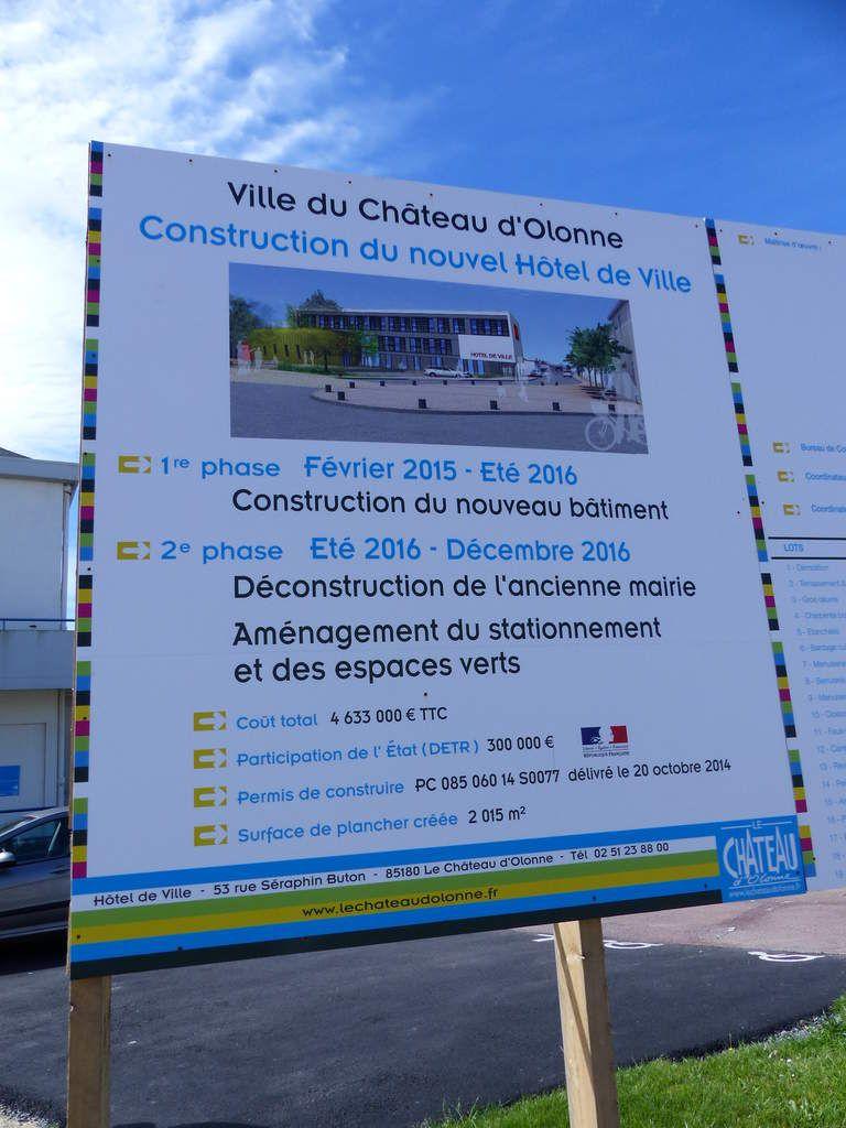 Chantier nouvelle mairie Château d'Olonne