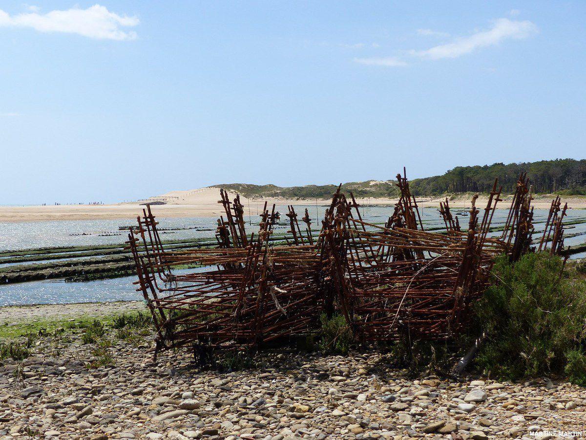 Ostréiculture dans l'estuaire du Payré à Talmont