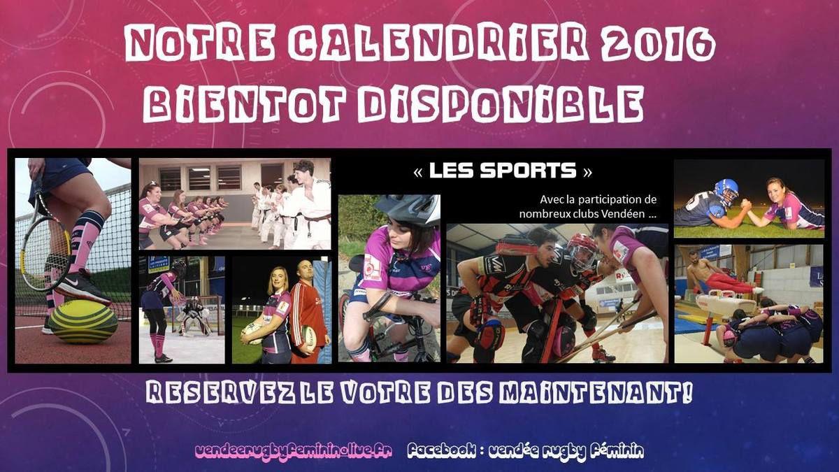 Calendrier 2016 du Vendée Rugby Féminin