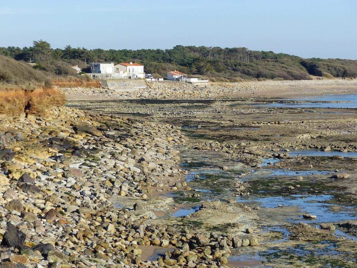 Photos de la côte de Talmont (Vendée) après la tempête