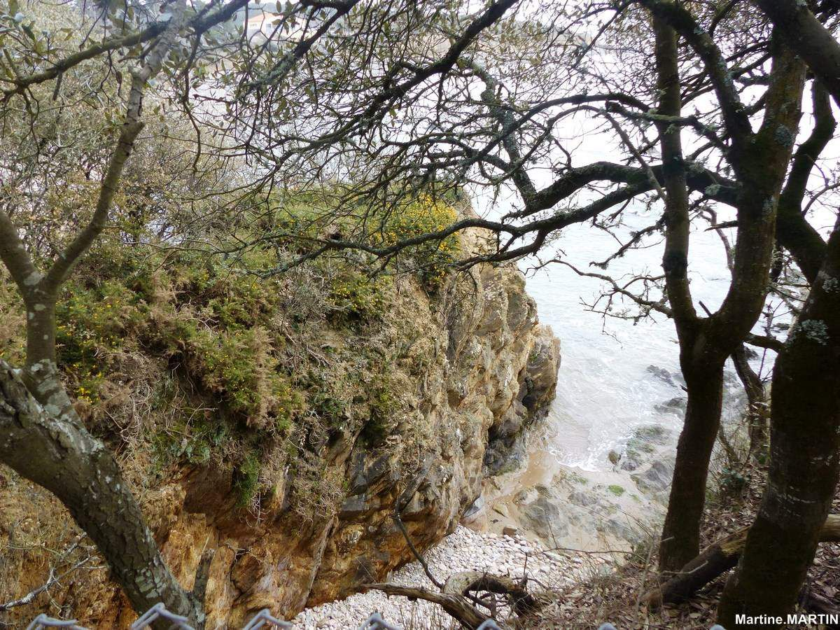 La côte de Talmont (Vendée) entre Cayola et La Mine