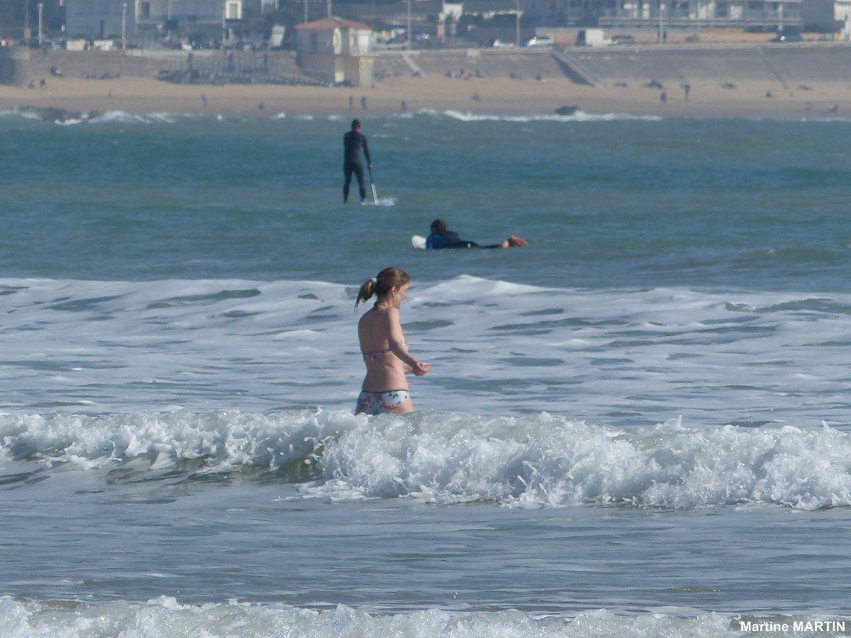 Début de la saison sur la plage des Sables d'Olonne
