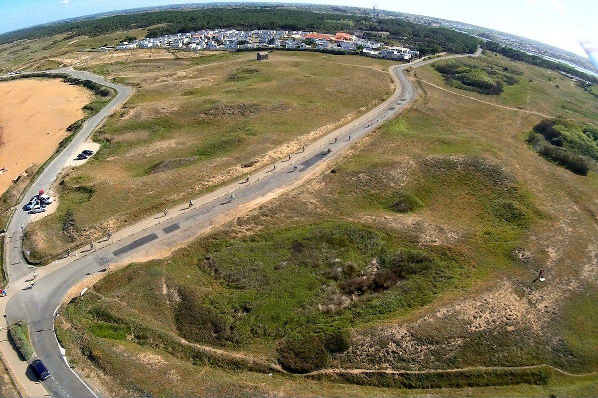 Vues aériennes de la plage du Paracou aux Sables d'Olonne