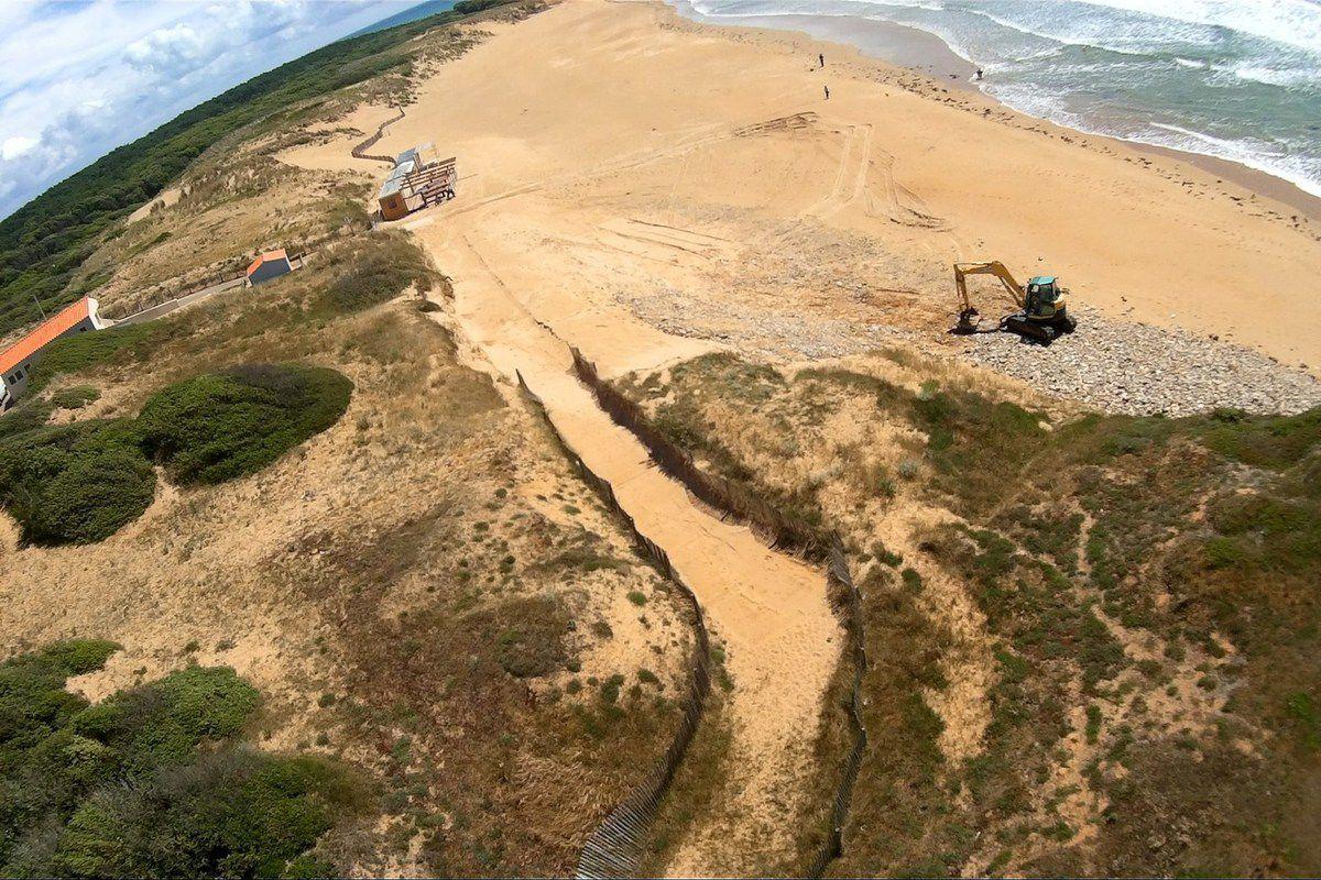 Photos aériennes de la Plage de la mine à jard
