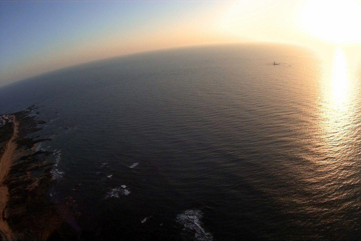 Le phare des barges au coucher du soleil