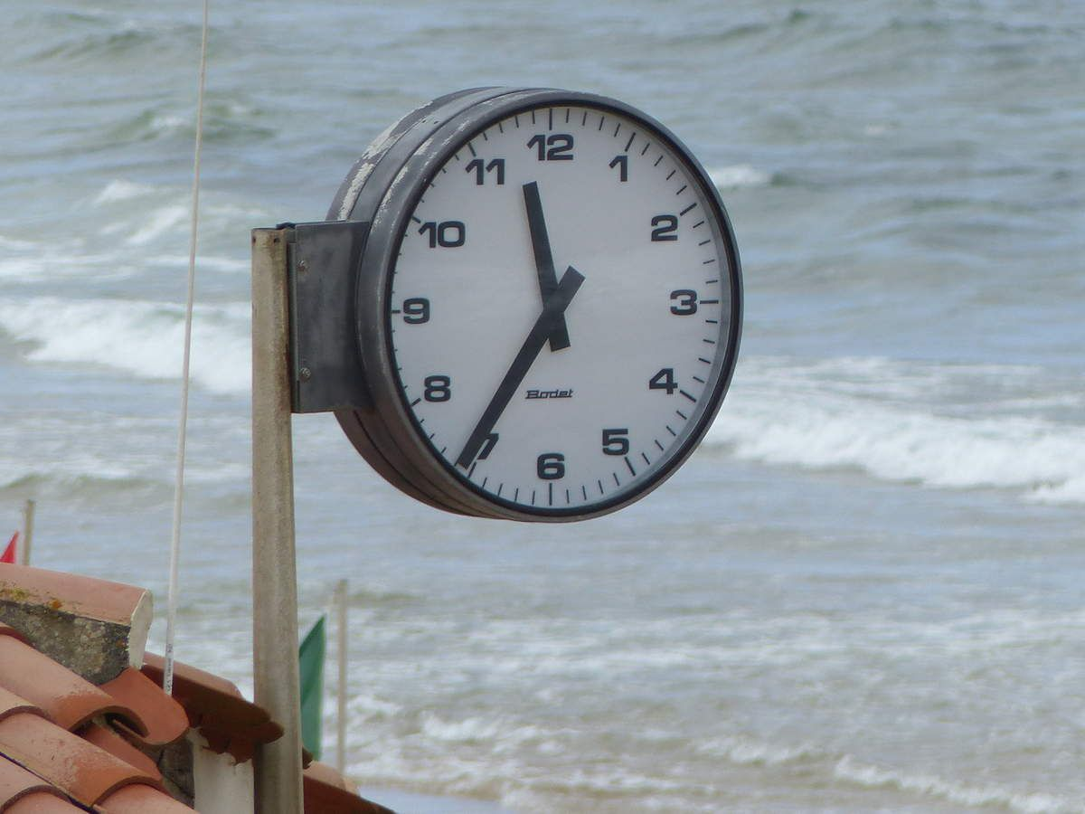 L'horloge de la plage
