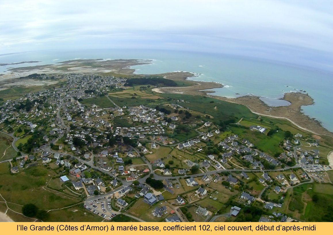 L'Ile Grande (Bretagne) vue du Ciel