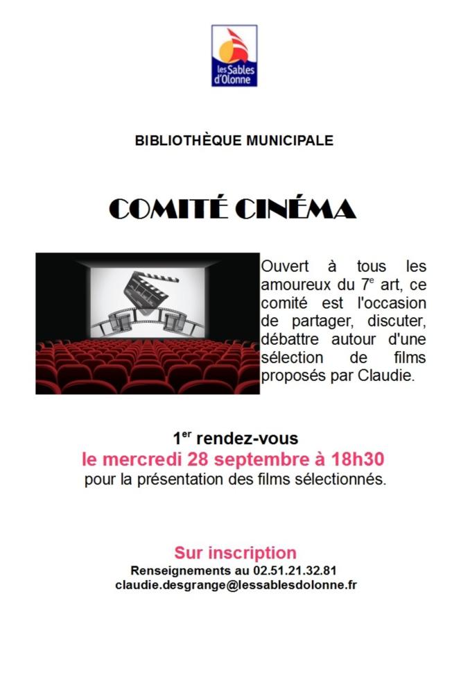 Comité Cinéma à la bibilothèque des Sables d'Olonne