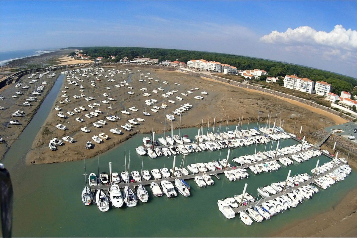 Photo aérienne du Port de Jard sur mer