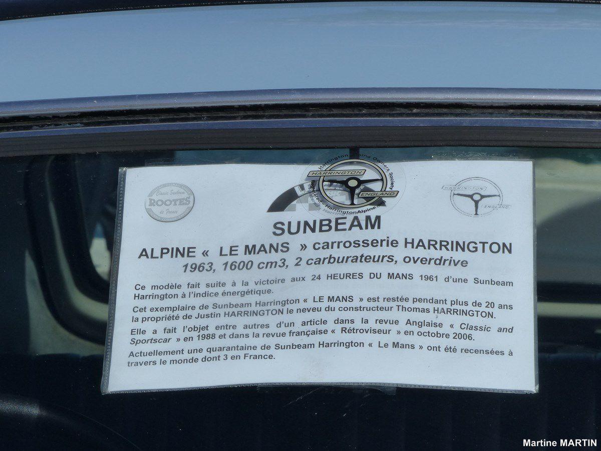 """Belles anglaises 2016 aux Sables d'olonne : Sunbeam Alpine """"LE MANS"""""""