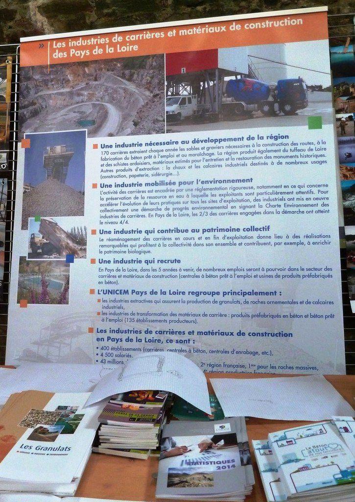 Carrières et matériaux de construction en pays de Loire